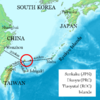 Расположение островов Сенкаку на карте
