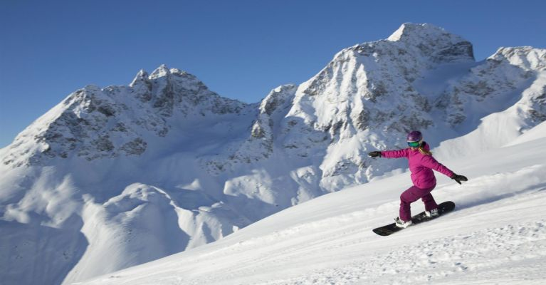 Sunny Spring Skiing