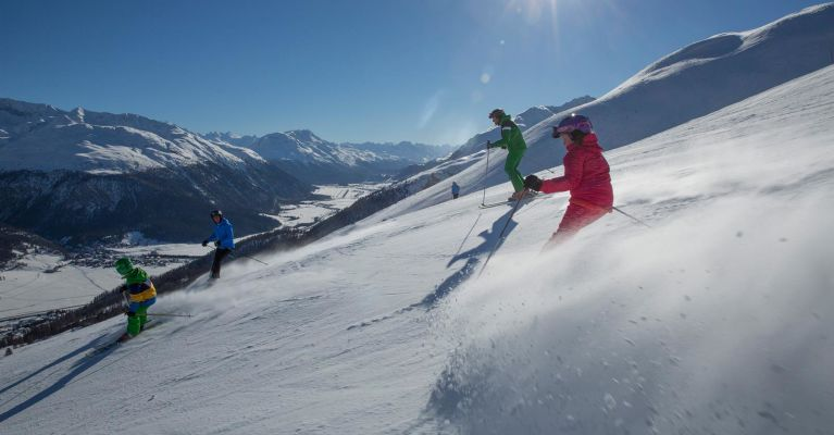 Skifahren in Zuoz