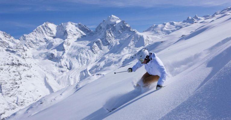Skifahren im Oberengadin