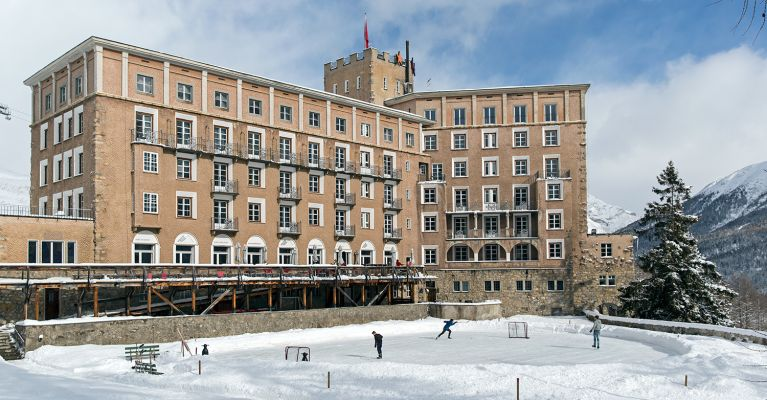 Hotel Castell im Winter
