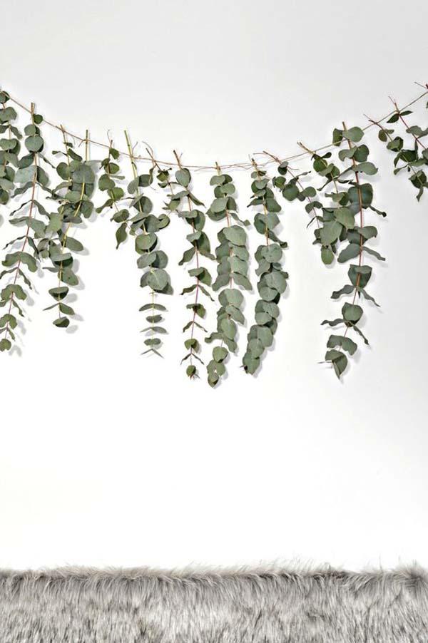 Decorare con l'eucalipto