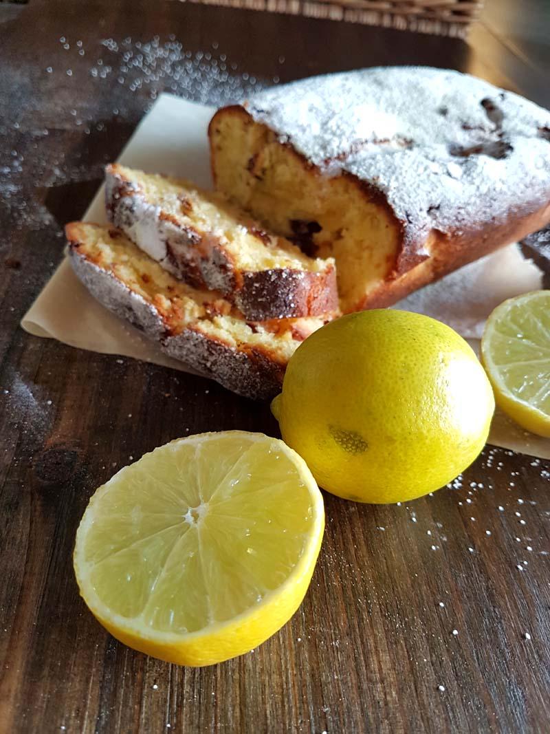 Torta al limone - con mirtilli