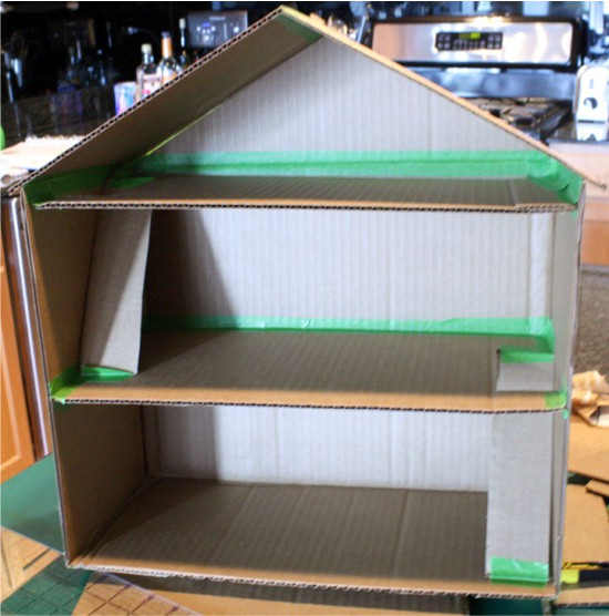 Создание каркаса дома из коробки