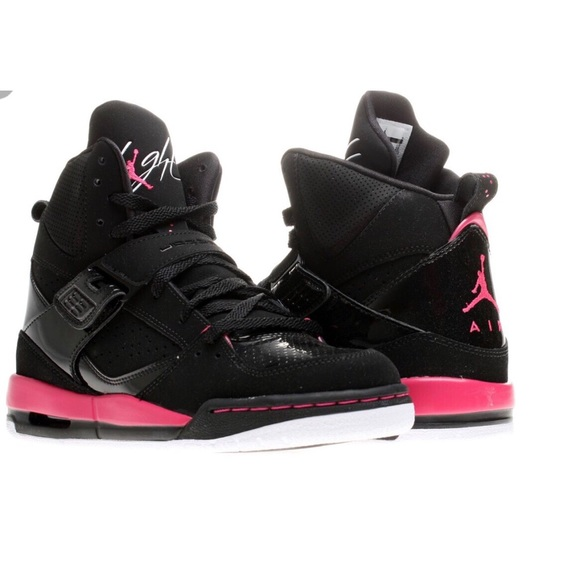 Jordan flight 45 black and pink