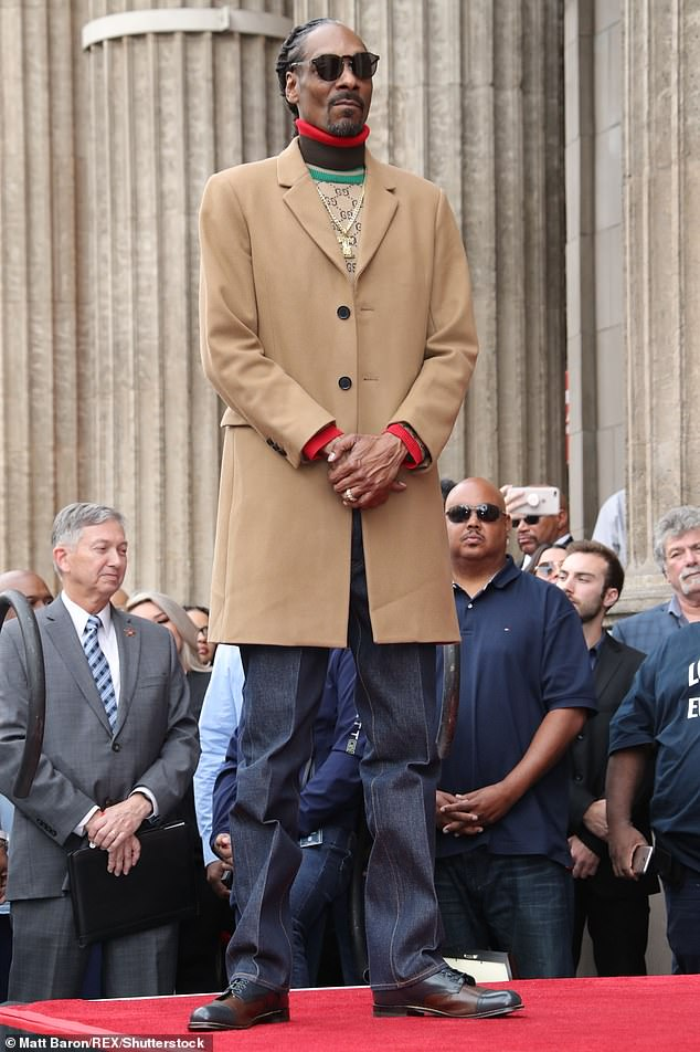 Regal:Snoop Dogg celebrated another achievement on Monday as he received a star on the Hollywood Walk of Fame