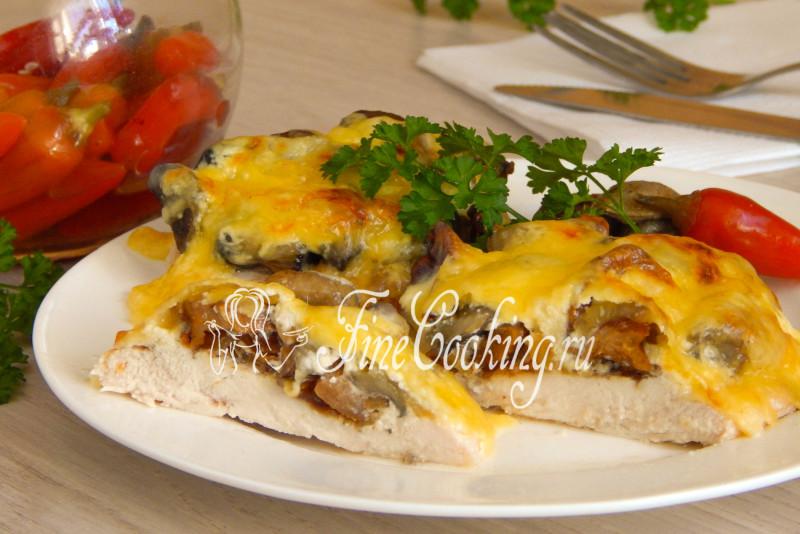 Грудки куриные с сыром и грибами в духовке рецепт с фото