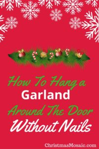 How to hang garland around door without nails