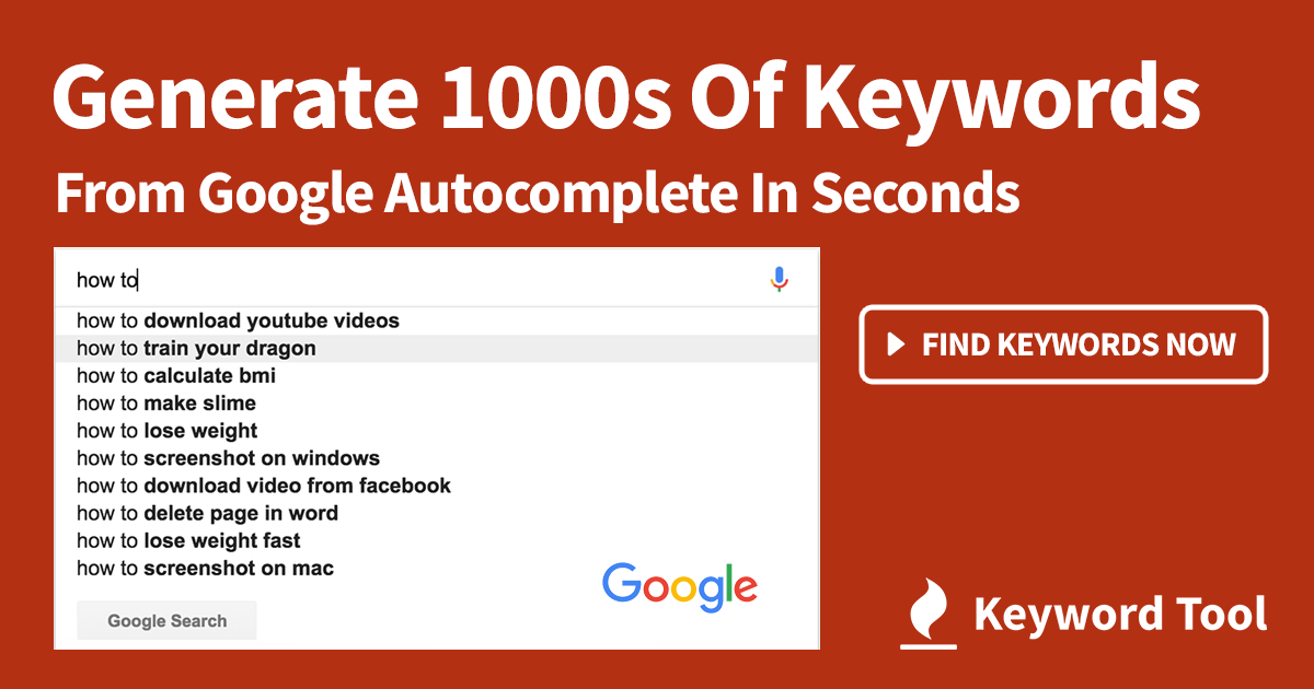 Google тренды и keywordtool