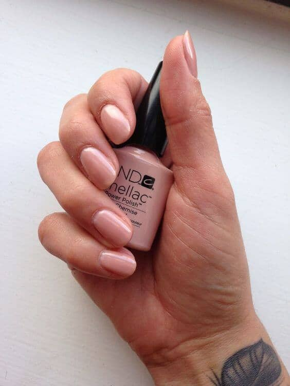 Barely There Baby Pink Manicure