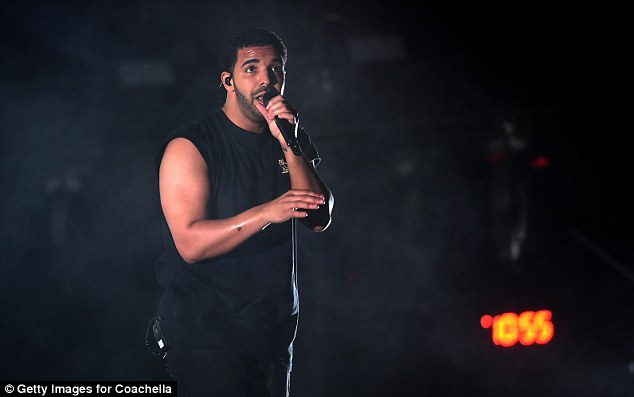 Pitch perfect: Drake belted out his hits, undeterred by the unfortunate stage incident