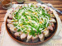 Фото к рецепту: Селёдка с луком в горчичном маринаде