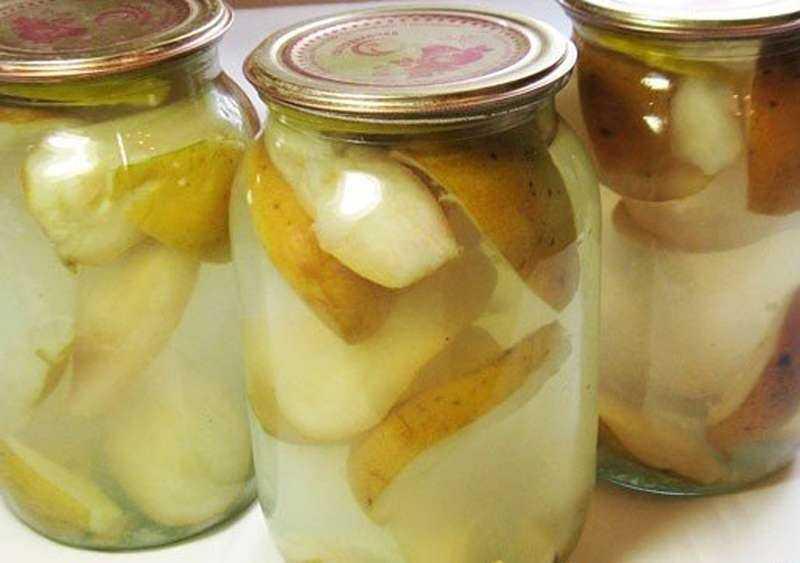 Грушевый компот с лимоном на зиму рецепт