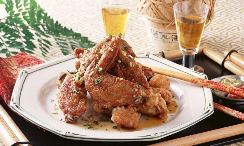 Курица в соевом соусе жареная
