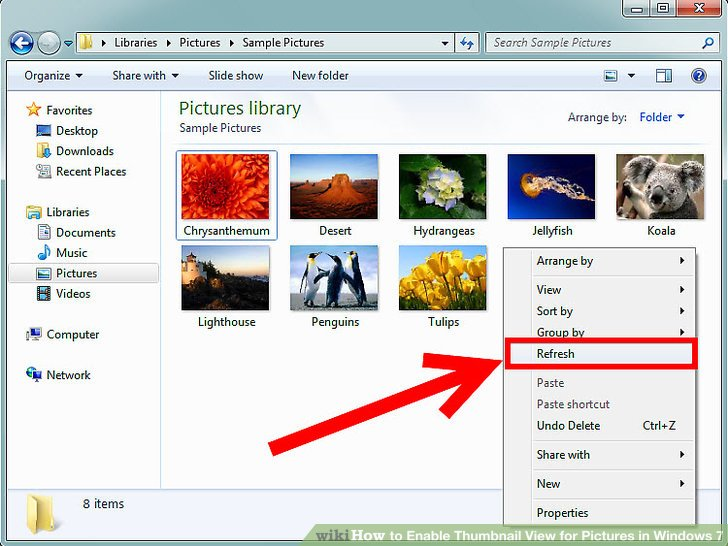 Windows 7 thumbnails