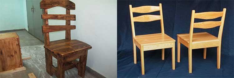 Чертёж стула из дерева