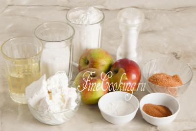 Печенье из творога с яблоками
