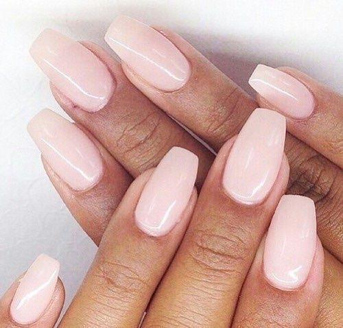 Light pink nails pinterest
