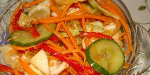 Салаты на зиму из огурцов с капустой самые вкусные рецепты с фото
