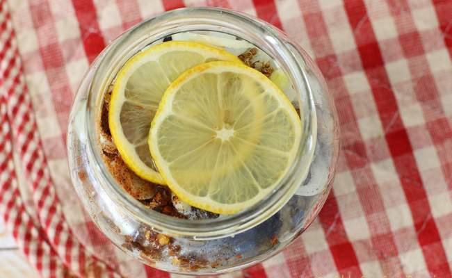 селёдка с лимоном
