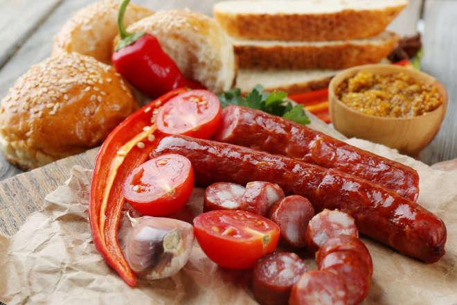 Копчёные колбаски