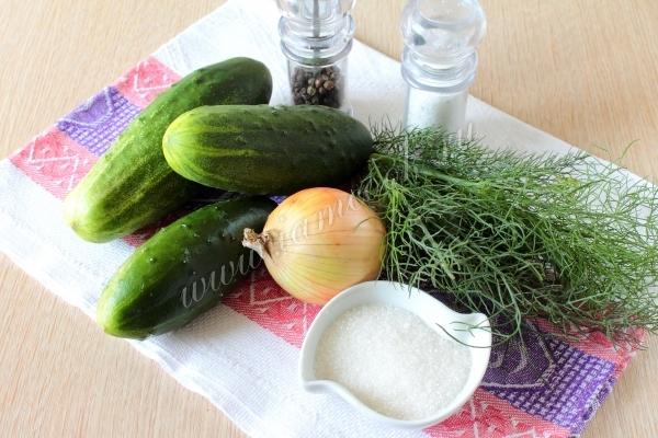 Рецепт салата из огурцов зимний король
