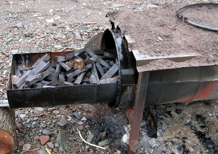 Производство угля древесного оквэд