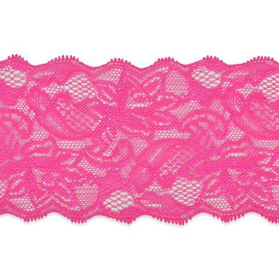 Hot pink lace trim