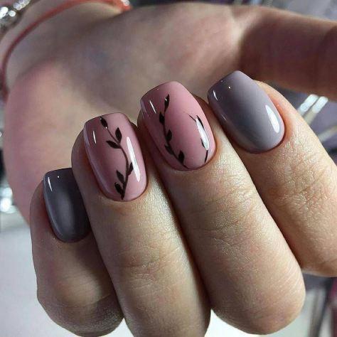Simple design nails