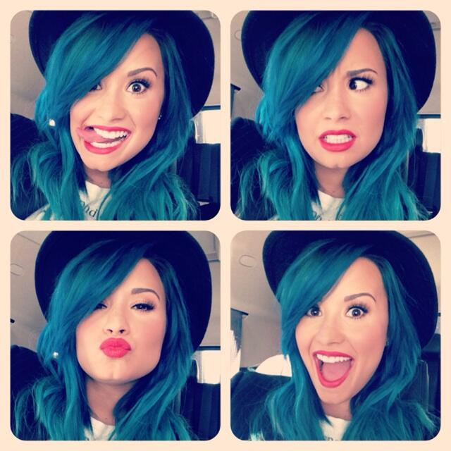 Demi lovato blue hair tumblr