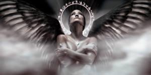 Обои Ангелы Крылья Девушки