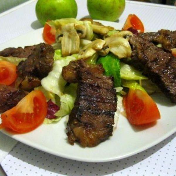 Салат теплый с телятиной рецепт