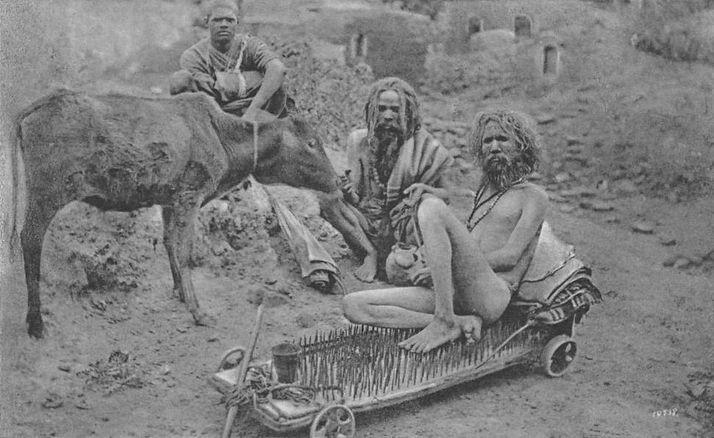 Йог, сидящий на иглах, Индия, конец XIX-начало XX века. история, смотреть, фото