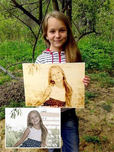 Портрет из дерева по фото на чпу