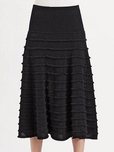 Catherine malandrino for designation textured knit skirt
