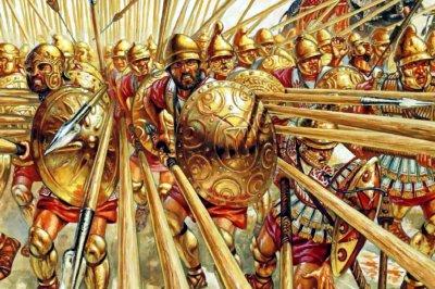 Македонская фаланга в бою
