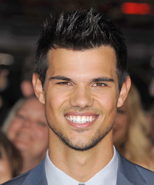 Taylor Lautner Short Straight   Black Ash    Hairstyle