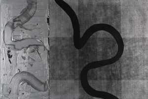 "Delta No. 1, mixed media, 40"" x 60"", 2010"