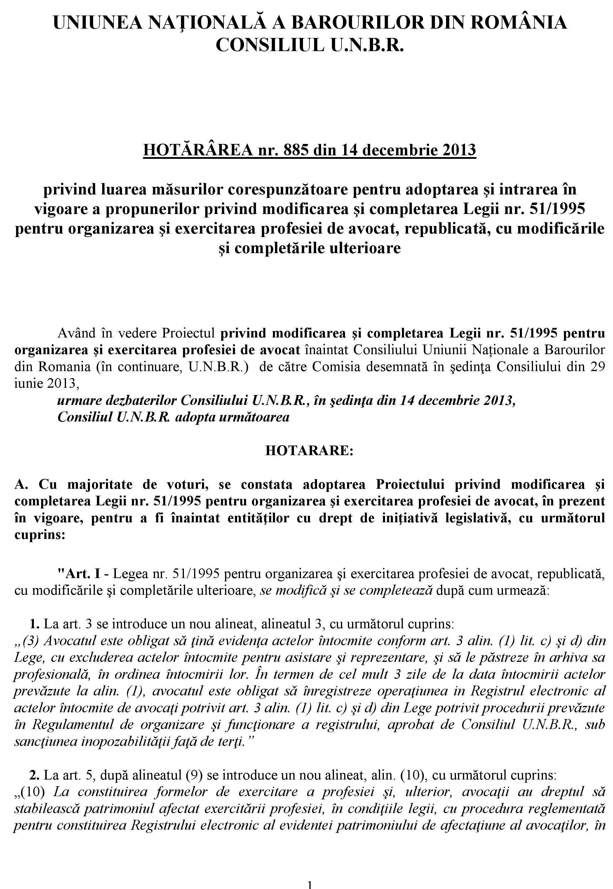 Hotararea_885-2013_Consiliul_UNBR_Proiect_Modificare_Legea_51_200114-EMAIL-page-001
