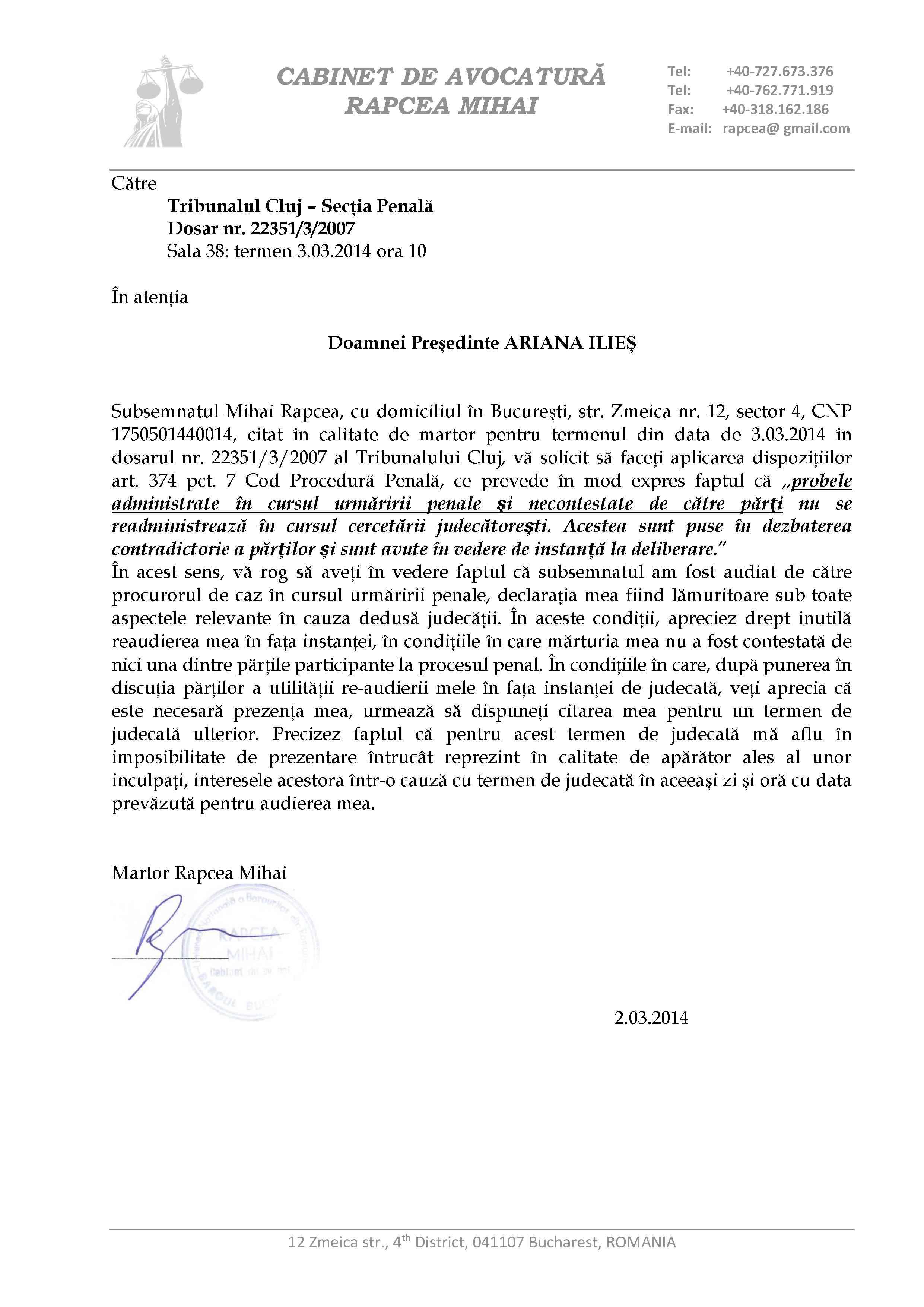 cerere Curtea de Apel Cluj - MISA1