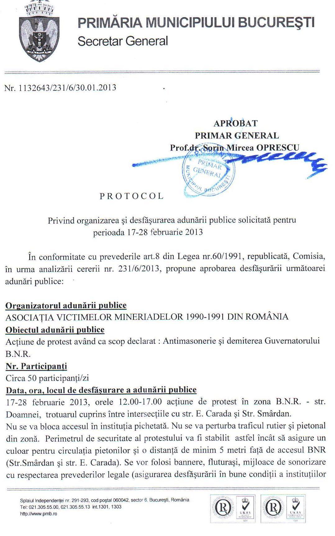 PROTEST ANTI-MASONERIE MUGUR ISARESCU (1)