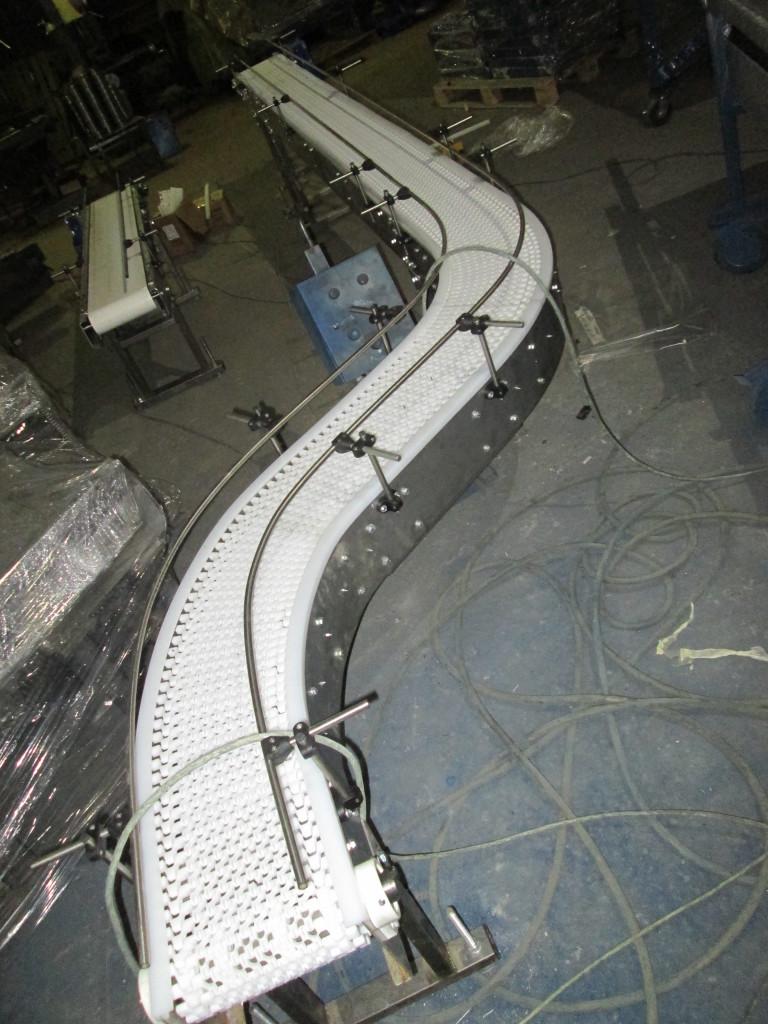 поворотный конвейер из нержавеющей стали