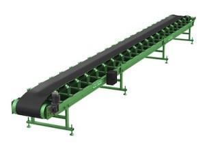 Желобчатый конвейер для легких сыпучих грузов