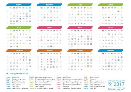 Праздники на октябрь 2017 года