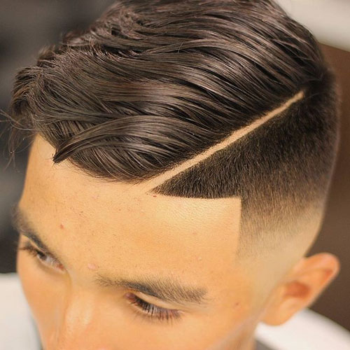 Long Comb Over + Thick Part + Skin Fade