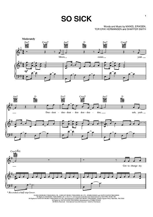 So sick ne-yo chords