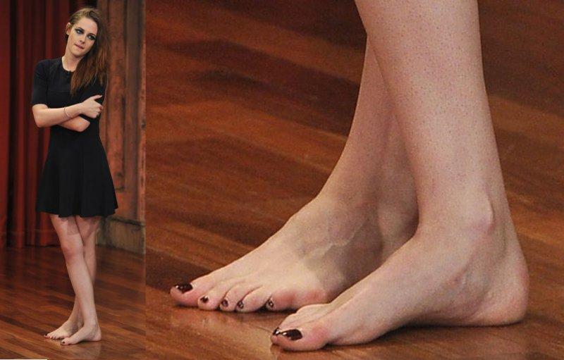 Female celebrities bare feet