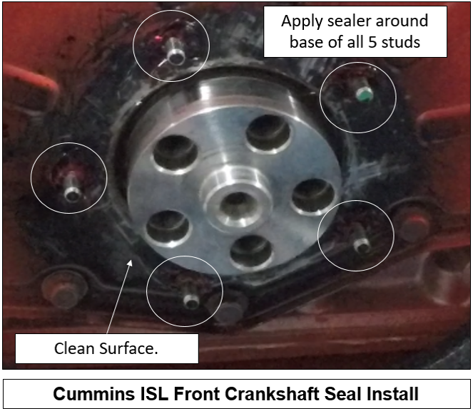 Cummins front seal replacement