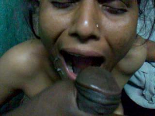 Her lips meet her meat for it's juicy cum