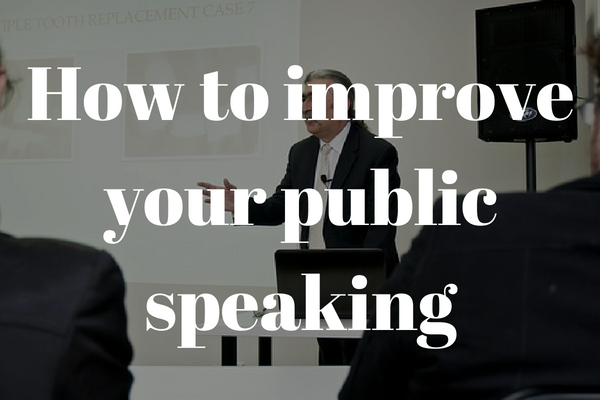 How to improve your public speaking